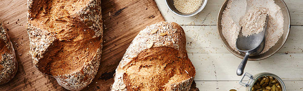 seeded whole grain bread from Cleveland's Breadsmith